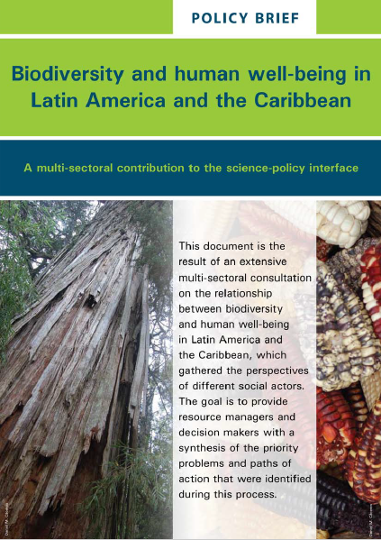 """Policy Brief: """"Biodiversity and human well-being in Latin America and the Caribbean"""""""